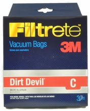 Dirt Devil Type C Vacuum Cleaner Bags t5700 3 pack