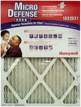 Honeywell CF112D1620/U MicroDefense MERV 12 Superior Household 1 Inch Air Filter- 4-Pack