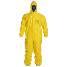 Tychem Coverall w/Attached Hood,& Boot