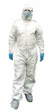 Tyvek Protective Kit - Dupont Tyvek Suit w/boot, Eye Safety, 2 Surgical Masks, 2 Sets of Gloves, Tape, & Storage Bin