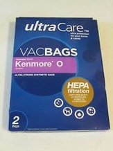 Ultracare Kenmore O Canister Hepa Cloth Bags 2 pk