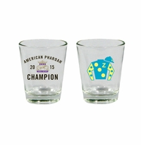 2015 Triple Crown Silks Shot Glass