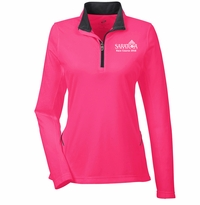2016 Saratoga Ultra Club Ladies 1/4 Zip Pullover, Heliconia