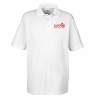 2016 Saratoga Ultra Club Men's Mesh Polo, White