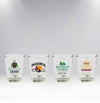 2016 Triple Crown 4 Piece Collector's Shot Glass Set