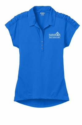 2017 Saratoga Ladies' Logo Polo, Electric Blue
