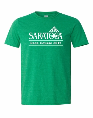 2017 Saratoga Logo T-Shirt, Heather Irish Green