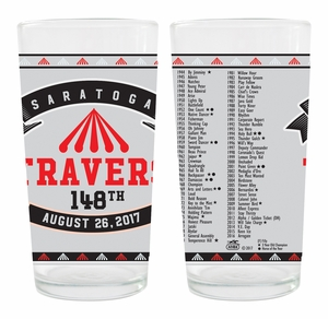 2017 Travers Stakes Collector Glass, 4 pack