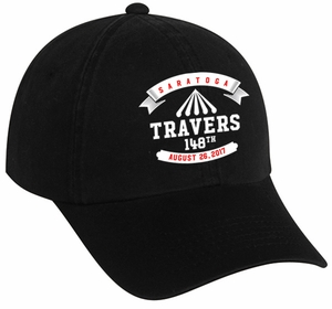 2017 Travers Stakes Logo Cap, OSFM, Black