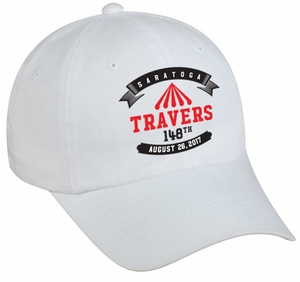 2017 Travers Stakes Logo Cap, OSFM, White