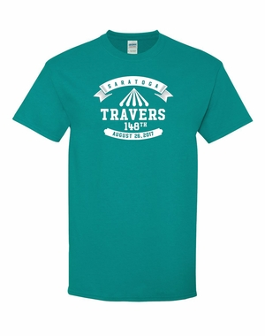 2017 Travers Stakes Logo Tee, Tropical Blue