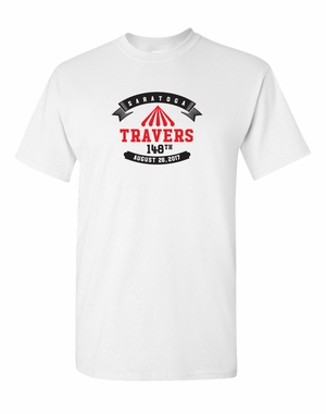 2017 Travers Stakes Logo  Tee, White