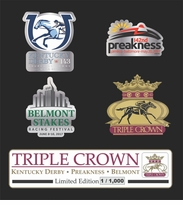 2017 Triple Crown 4 Piece Collector's Pin Set
