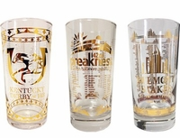 2017 Triple Crown Gold Glass Collectors Set LIMITED EDITION