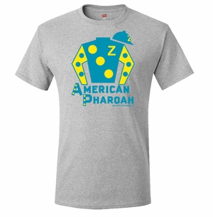 American Pharaoh Silks T-Shirt, Steel Grey