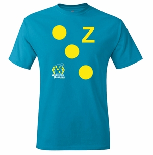 American Pharoah Dots T-Shirt, Teal