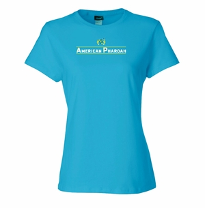 American Pharoah Lines Ladies T-Shirt, Teal