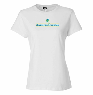American Pharoah Lines Ladies T-Shirt, White