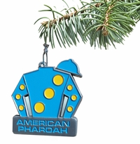 American Pharoah Pewter Ornament