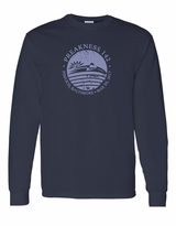 Distressed Seal Long Sleeve T-Shirt Navy