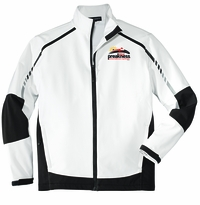 Event Logo Softshell Jacket Sea Salt White/Deep Grey