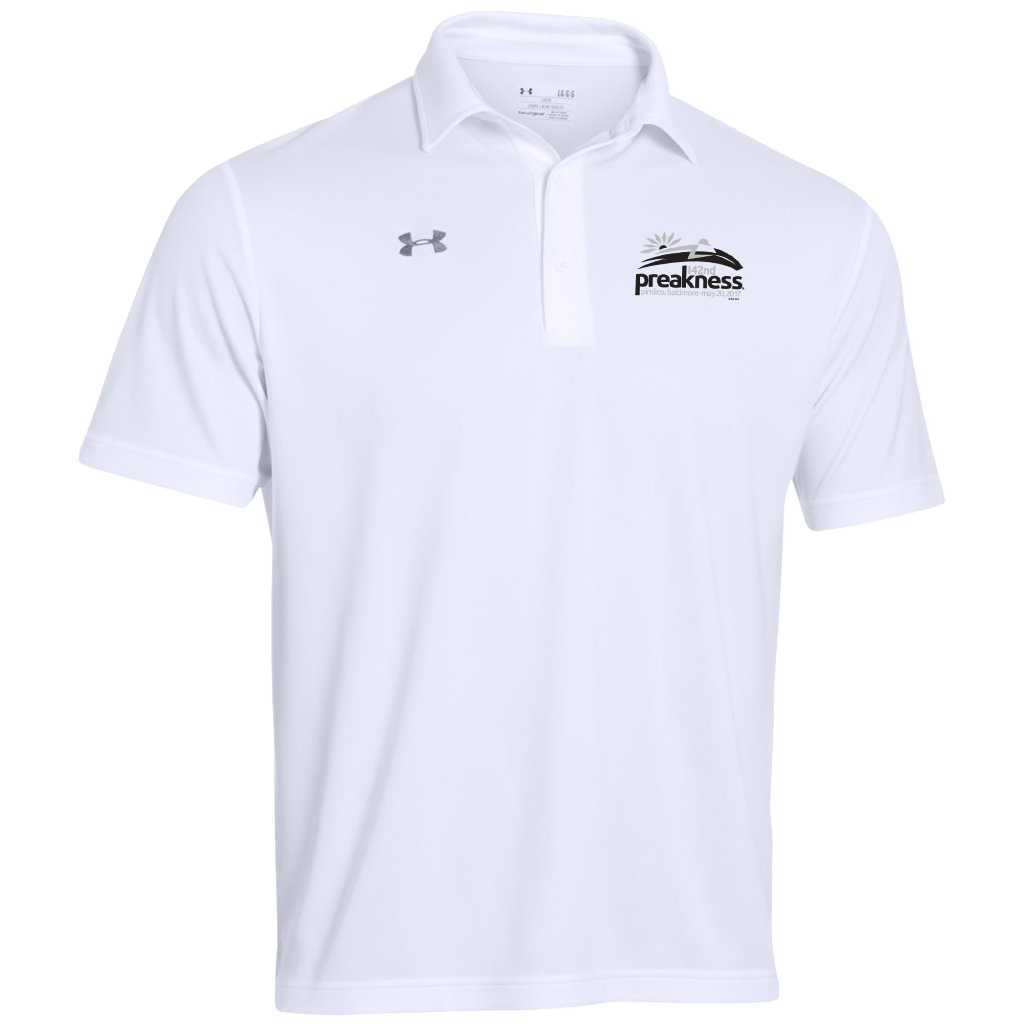 Under armour team rival performance polo white for Under armor business shirts