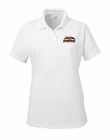 Ladies' Event Logo Moisture Free Mesh Polo White