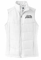 Ladies' Event Logo Puffy Vest White