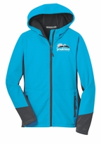 Ladies' Event Logo Softshell Jacket Cayan Blue/Magnet Grey