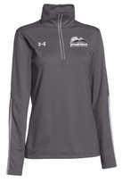 Ladies' Event Logo Under Armour 1/4 Zip Qualifier Pullover Graphite/White