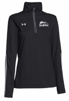 Ladies' Event Logo Under Armour 1/4 Zip Qualifier Pullover Black/White