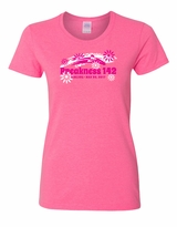 Ladies' Flower T-Shirt Safety Pink