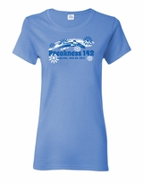 Ladies' Flower T-Shirt Carolina Blue