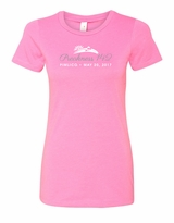 Ladies' Glitter T-Shirt Hot Pink