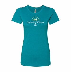 Ladies Next Level T.C. Script Champion Tee, Teal