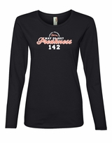 Ladies' Script Long Sleeve T-Shirt Black