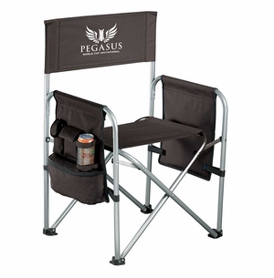 PWCI OFFICIAL LOGO GAME DAY CHAIR, BLACK