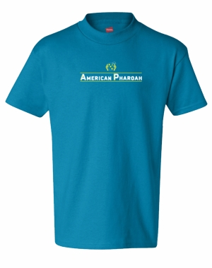 Youth Am Pharoah Silks Line Logo T-Shirt, Teal