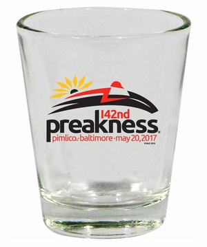 Preakness 142 Shot Glass 1.75 oz., Clear