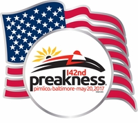 Preakness 142 USA Flag Lapel Pin