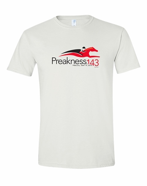 Preakness 143 Event Logo Adult Soft Style Tee, White