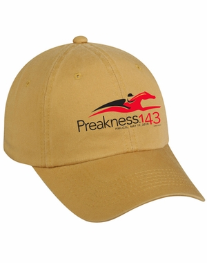 Preakness 143 Event Logo Garment Washed Cotton Twill Cap, Mustard