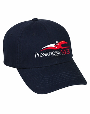 Preakness 143 Event Logo Garment Washed Cotton Twill Cap, Navy