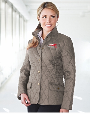 Preakness 143 Ladies' Event Logo Bridget Quilted Jacket, Driftwood