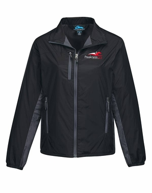 Preakness 143 Ladies' Event Logo Martina Lightweight Jacket, Black