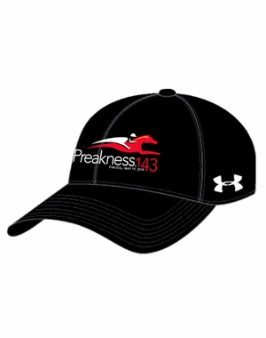 Preakness 143 Ladies' Under Armour Event Logo Cap, Black/White