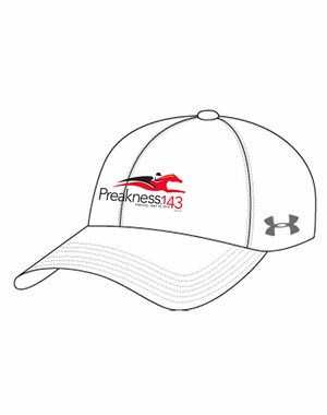 Preakness 143 Ladies' Under Armour Event Logo Cap, White/Graphite