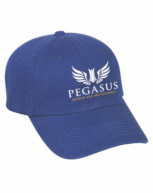 PWCI 2018 EVENT LOGO TWILL CAP, ROYAL