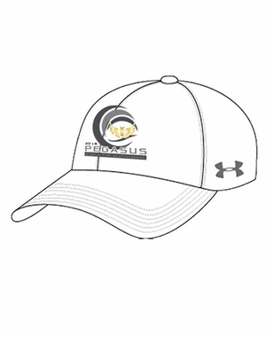 PWCI 2018 LADIES' UNDER ARMOUR WAVE DESIGN CHINO CAP, WHITE
