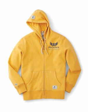 PWCI 2018 MEN'S ROOTS 73 EVENT LOGO BROCKTON FLEECE FULL ZIP HOODY AMBER